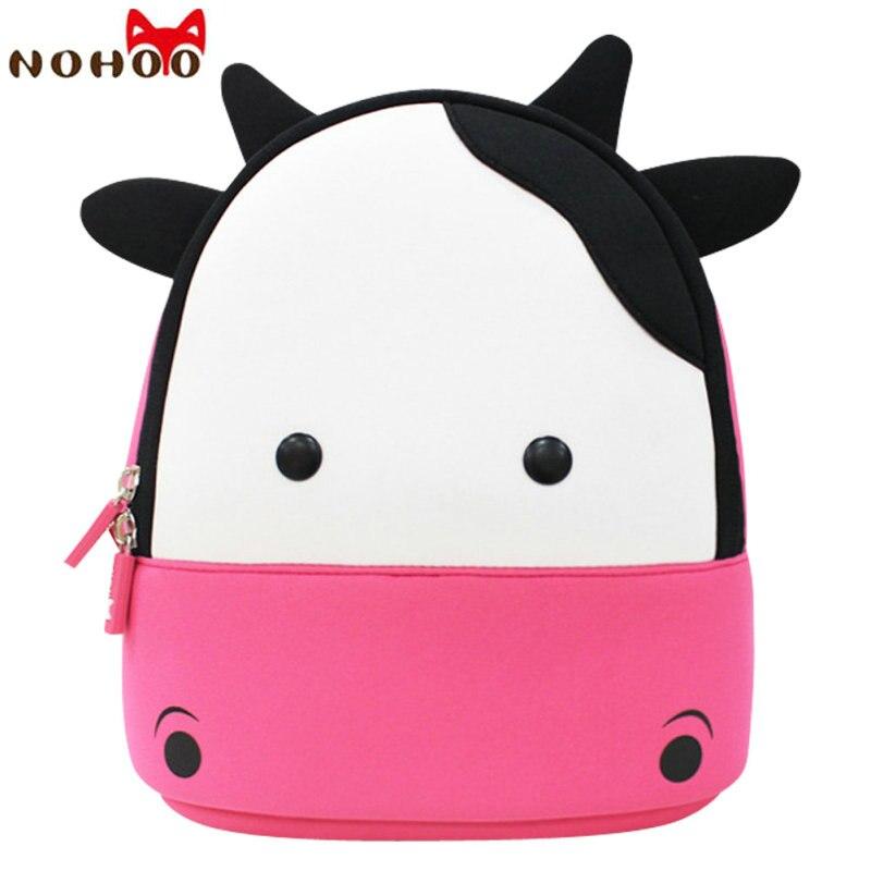NOHOO 3D Animals Printing School Backpacks for Children Waterproof Cartoon Kids School Bags for Girls Mochila Escolar-15 цены онлайн