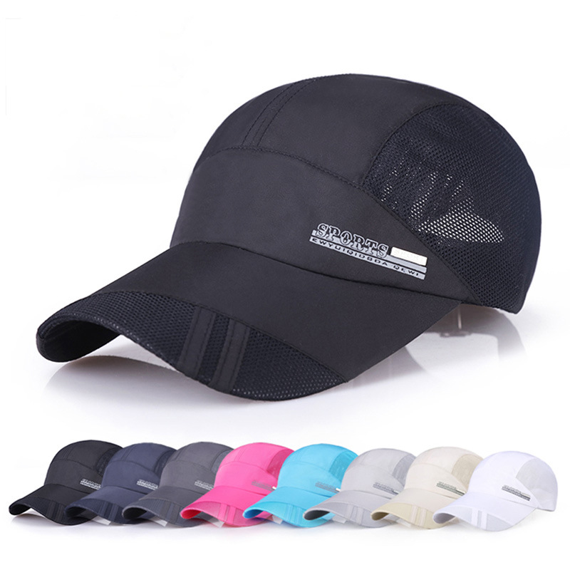 Fashion Men's   Baseball     Cap   Adjustable Outdoor Sport Running Snapback Bone Summer Sun Hat Breathable Thin Mesh Fast Drying   Caps