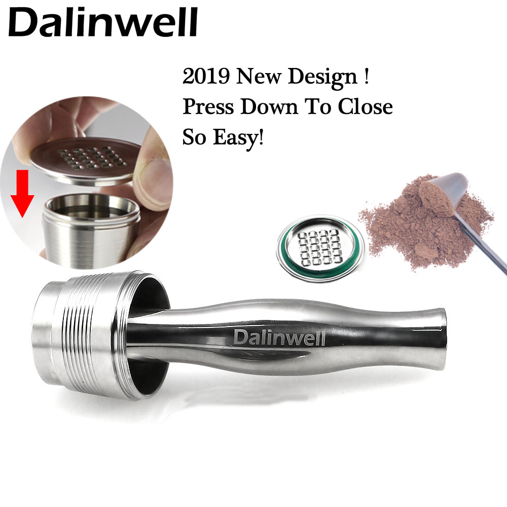 New Stainless Steel Nespresso Drip Coffee Filter Reusable Cafetera Capsules Refillable Coffee Capsules Espresso Pods Tamper Sets