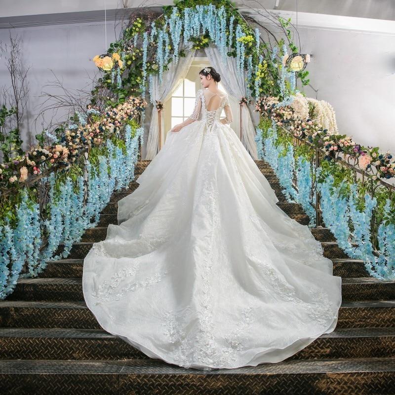 White dresses vestido de novia de encaje vestidos de novia vestido longo gelinlik real photos brautkleid matrimonio 2018
