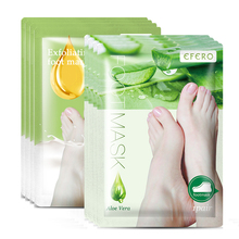8Pair Baby Foot Mask for Legs Pedicure Socks Feet Exfoliating Mask Exfoliation Dead Skin Foot Scrub Heels Peeling Mask EFERO