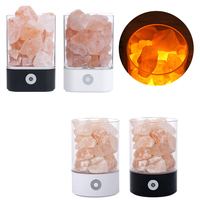 LED Lamp Natural Himalayan Salt Lamp USB Crystal Light Creative Crystal LampAir Purifier Light Table Lamp Bedroom Lava Lamp