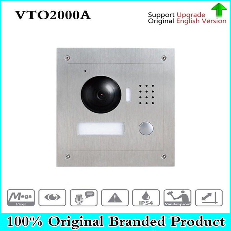 DH VTO2000A with logo original 1.3MP Video Door Phone POE P2P Metal Villa Outdoor Station Remote Intercom APP Night Vision dh vto2000a 1 3mp video door phone poe p2p metal villa outdoor station remote intercom night vision with logo dh vto2000a