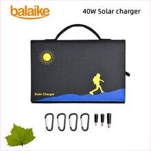 Balaike солнечное зарядное устройство 40 Вт 5 В ~ 18 В солнечная панель складное зарядное устройство Мобильная мощность содержит 6 шт. панелей солнечных батарей для мобильного телефона
