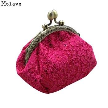 7881fc9d7 Naivety monedero gota envío nuevo regalo mujeres Mini de lujo de encaje  Hasp cartera monedero monedas bolsillo bolso de embrague AUG18