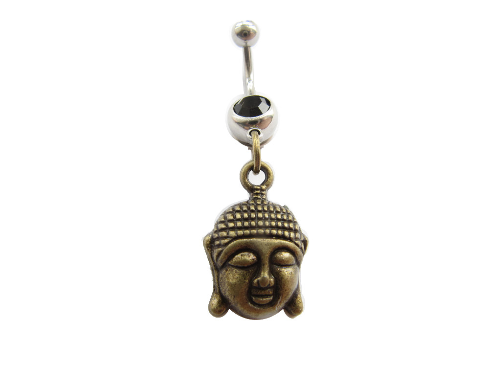 Wholesale 2Pcs  Lot Buddha Belly Ring Belly Button Ring -3603