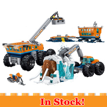 все цены на New City Set Arctic Exploration Mobile Base Compatible Legoingly City 60195 Model Building Block Bricks Toys Children Gifts онлайн