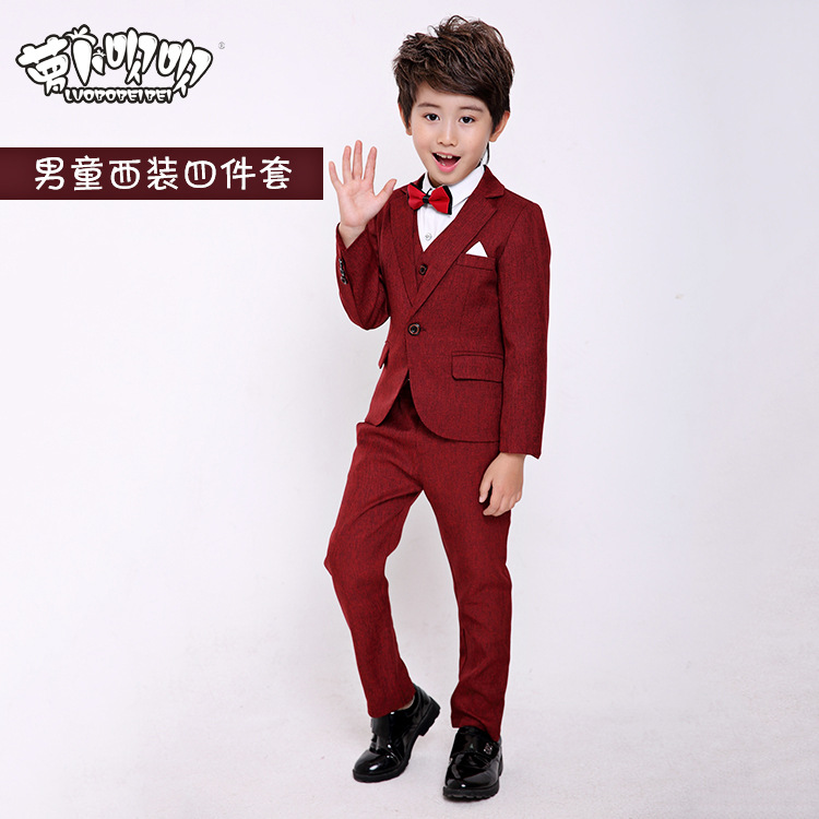 2017 New children suits good quality baby boy Prom Suits Blue/Black ...