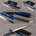 Samurái japonés con espada Wakizashi de acero de alto carbono espada completa Tang batalla cuchillo japonés Samurai Cosplay cuchillo