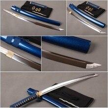 Brandon Schwerter Blau Samurai Wakizashi Schlacht Bereit Full Tang Japanischen Schwert Sharp High Carbon Stahl Messer Cospaly Messer