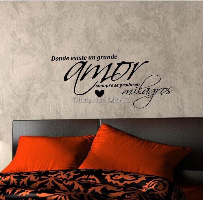 Spanish Wall Decor aliexpress : buy vinyl wall decal sticker amor , arte de la