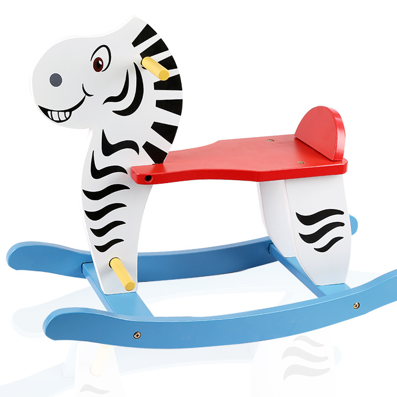 High Quality SGS Certification Wooden Rocking Chair Toys Rocking Horse For Kids Toy For Children WD30