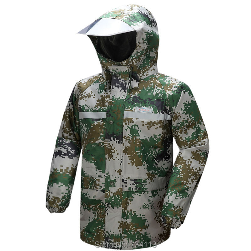 Army style raincoat Camouflage high quality outdoor work raincoat - Household Merchandises