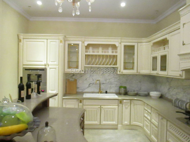 Us 330 0 2016 Classic European Style Kitchen Cabinet Champagne Color Wood Kitchen Cabinets China Factory Price In Kitchen Cabinets From Home