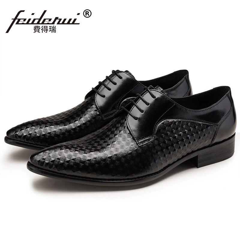 Italian Designer Man Dress Shoes Elegant Genuine Leather