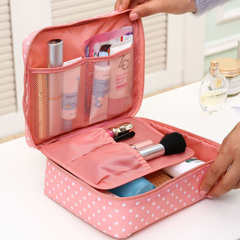 portable toiletry cosmetic bag waterproof makeup make up