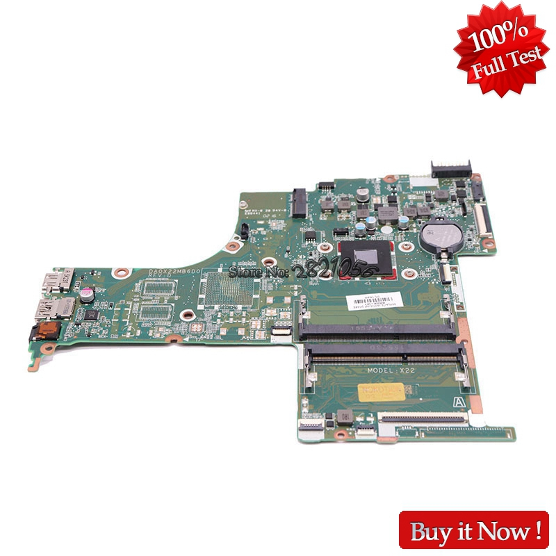 Nokotion Laptop Motherboard 809336-001 809336-601 For Hp Pavilion 15-AB With A6-6310 CPU Onboard haoshideng 809336 601 da0x22mb6d0 x22 for hp pavilion notebook 15 ab 15 ab188cy motherboard with a6 6310 cpu fully tested
