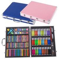 150pcs Painting Set Watercolor Brush Supplies Student Kids Tools Children Artist Art School Colored Pencils Crayon Aluminum Box