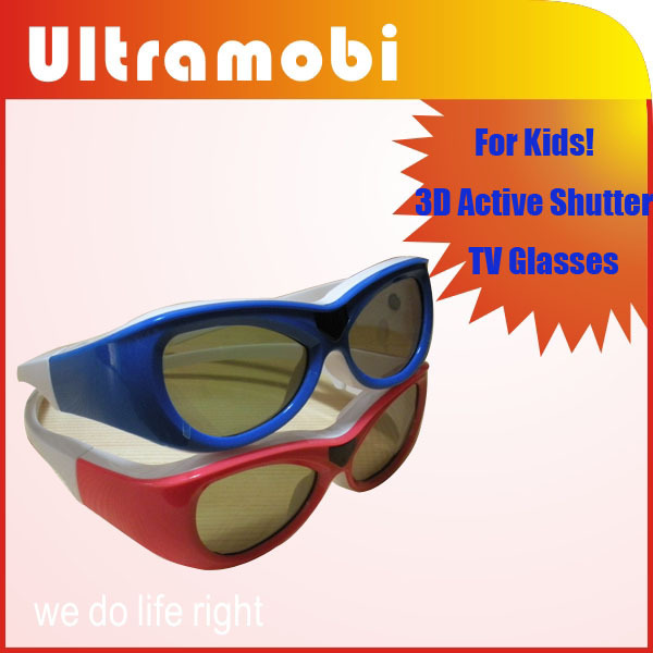 Kids Universal 3D Active Shutter TV Glasses for most 3D TVs from Qualified Factory for your kids Specially!