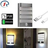 ZjRight Enerji tasarrufu Kablosuz PIR Hareket Sensörü Otomatik LED Işık duvar lambası Mutfak yatak odası Dolap fuaye Merdiven çalışma gece ışık