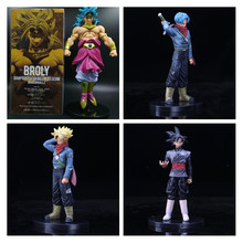 New Dragon Ball Z Son Gohan Super Saiyan Goku Son goku Broli broly Trunks PVC Action Figure Modelo Coleção Toy presente(China)
