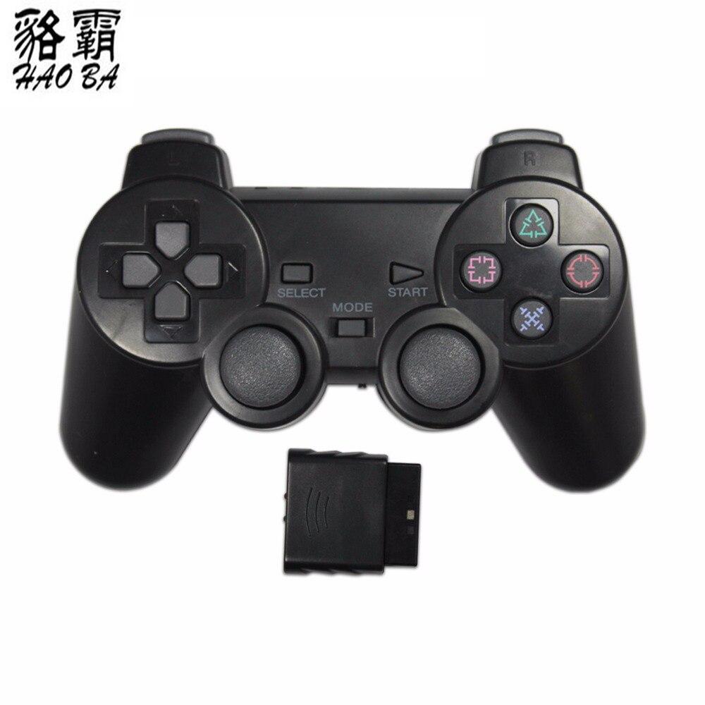 2x2.4G sans fil contrôleur de jeu gamepad joystick pour PS2 console playstation 2 noir