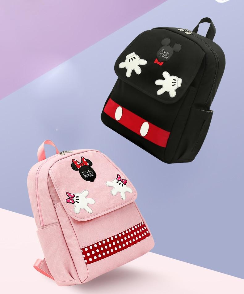 HTB1GaFSLHPpK1RjSZFFq6y5PpXan Disney Diaper Bag Backpack For Moms Baby Bag Maternity For Baby Care Nappy Bag Travel Stroller USB Heating Send Free 1Piar Hooks