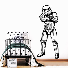 Modern Star Wars Wall Stickers Home Furnishing Decorative Cool Living Room Wall Sticker Kids Room Wall Decals Art Decals цена