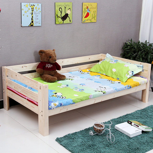 cheap wood bed boy children girl princess pine wood bed sofa bed linen kids bed with