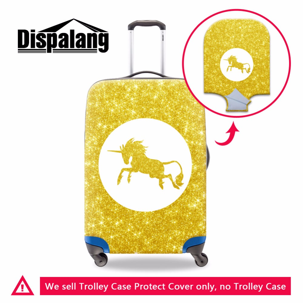 Dispalang Unicorn Print Luggage Cover Luggage Protector With Zipper Closure Dustproof Covers Suitcse Cover For Duffle 18-30 Inch