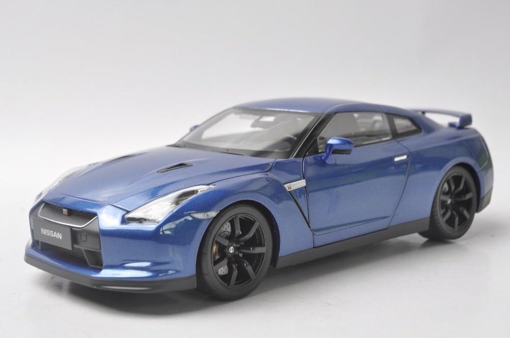 1:18 Diecast Model for Nissan GTR R-35 2008 Blue Alloy Toy Car Coupe GT-R GT R R35 автомобиль bburago nissan gt r 2009 1 32 18 42016