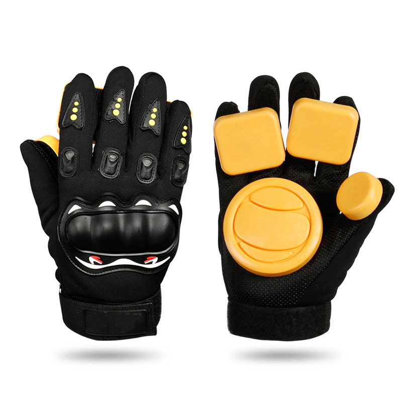 Black Slider Gloves Professional Racing Brakes Longboard Gloves Skateboard Skateboard Gloves Wear Resisting Long Board Gloves