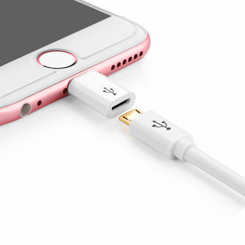 the best attitude cd7a3 e69d0 Micro USB To 8 Pin Adapter for IPhone 8 7 6 6S Plus 5 5S 5C SE X 10 Otg  Converter Charger 8pin Female Adapter for Android IPhone-in Mobile Phone ...