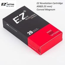 EZ Revolution Cartridge Needles #08 (0.25 mm) Curved Magnum Tattoo for System Machine & Grip 20 pcs
