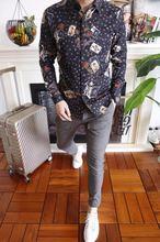 WRD07288BB Новое поступление Для мужчин рубашки 2018 взлетно-посадочной полосы дизайнер модного бренда Костюмы Европа Стиль Мужская одежда