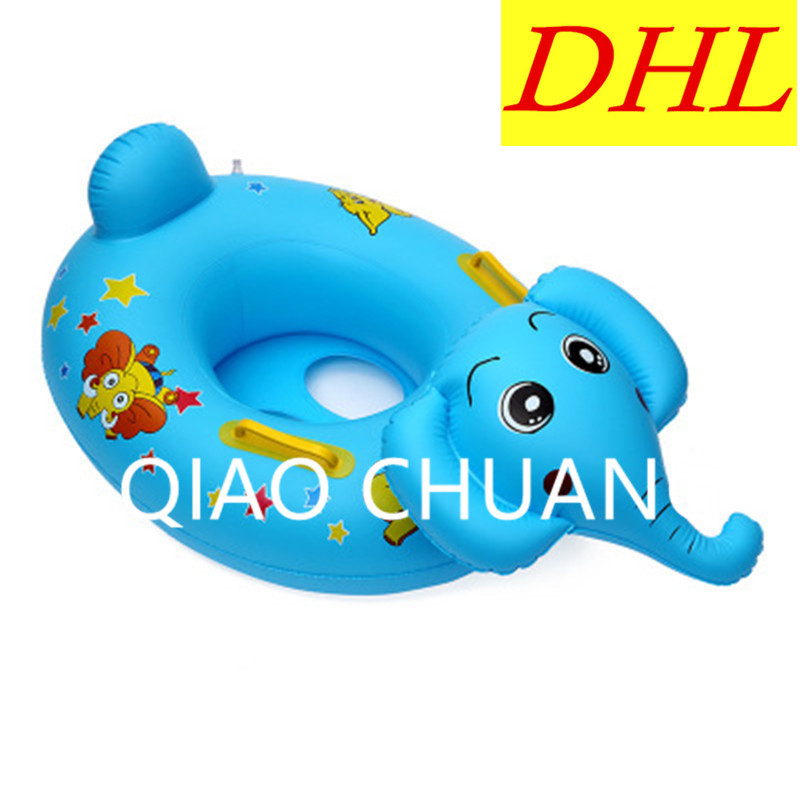 Wholesale 100pcs/lot Inflatable Cartoon Elephant Children Swimming Ring PVC Thicken Play With Water Toy G1352