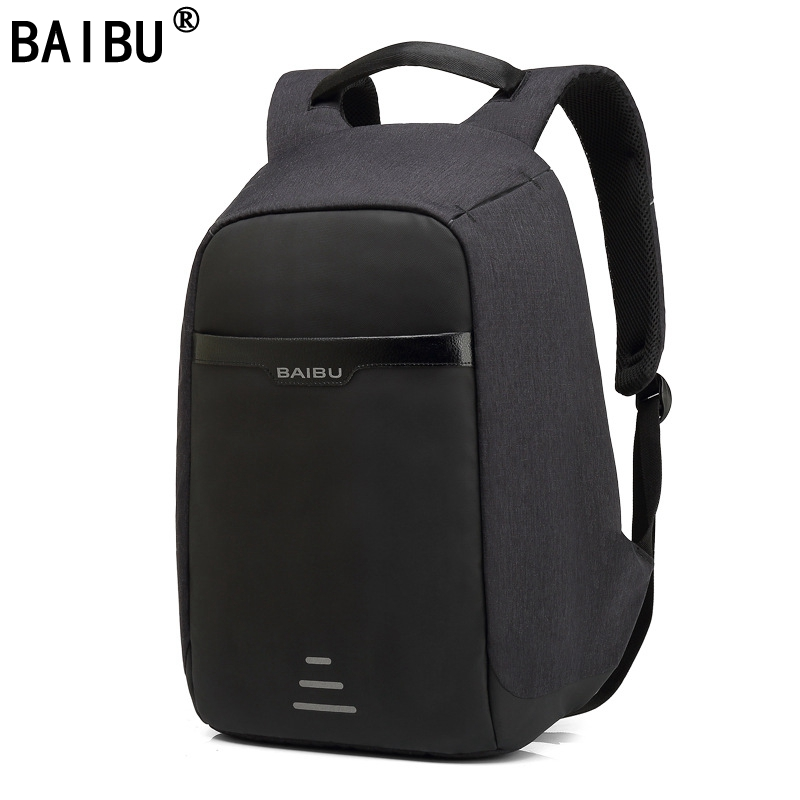BAIBU Men Backpack Anti theft multifunctional Oxford Casual Laptop Backpack With USB Charge Waterproof Travel Bag Computer Bag eirmai slr camera bag shoulder bag casual outdoor multifunctional professional digital anti theft backpack the small bag