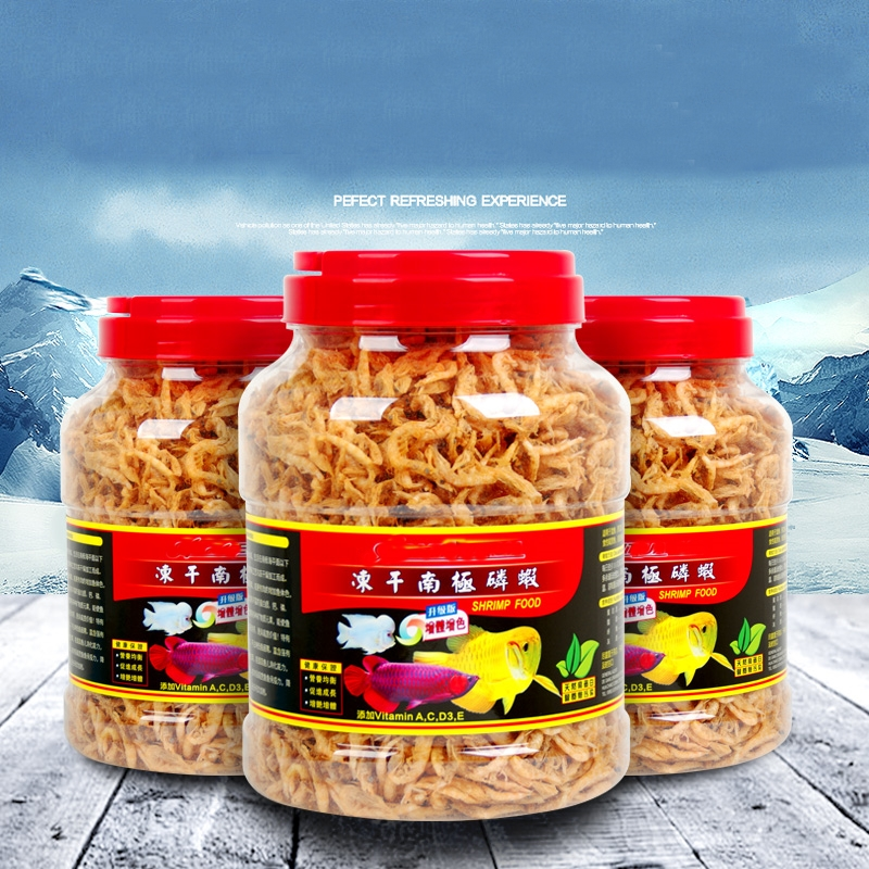 Natural River Shrimp Sun Dried Dried Fish Food Treat Aquarium For Cichlid Turtle Flowerhorn Carnivore Shrimp Food