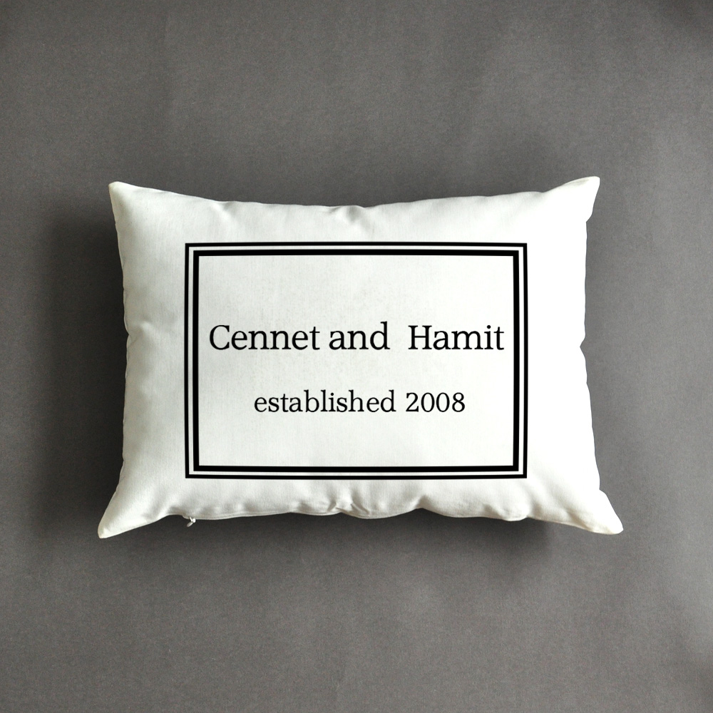 Wedding Date Gift: Personalized Pillow, Anniversary Gift , Wedding Gift Idea