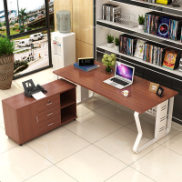 0210TB008 Modern minimalist European style steel wood free combination of executive desk boss manager office table