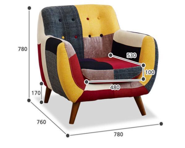 Divano Letto Patchwork : Moderno divano divano rivestimento in tessuto tappezzeria divano