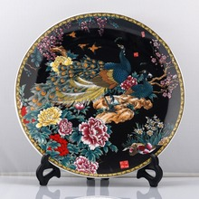 Chinese Beautiful color Porcelain Phoenix Plate Handwork Collectible! NR K 02