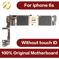 100% Original motherboard for iphone 6S 16GB unlocked worldwide Mainboard for iphone6s IOS system NO touch ID Mobile phone