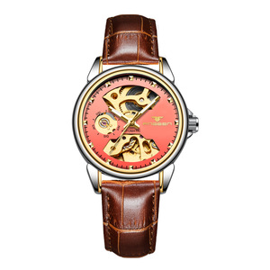 Image 4 - 2019 יוקרה נקבה שעון אוטומטי מכאני עסקי שעון גבירותיי שעונים עמיד למים חלול ורוד מכונאי שעון לנשים מתנה