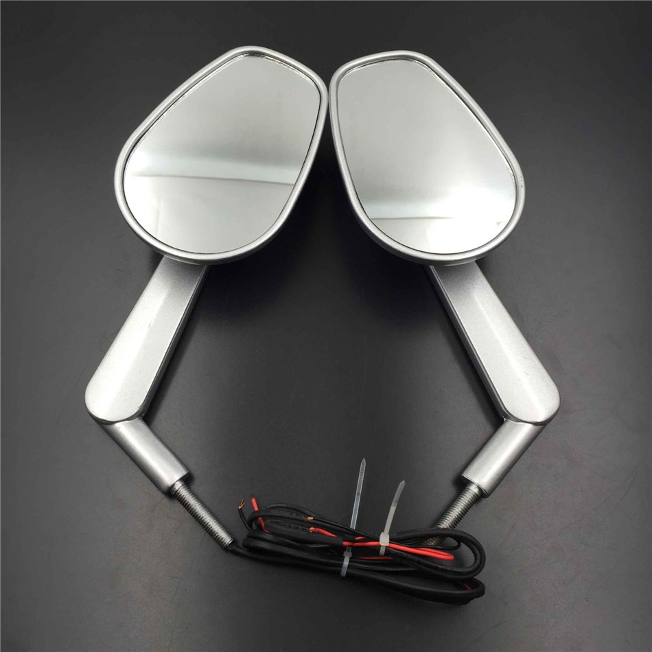 Aftermarket  Motor Polished Rear View Left Right Mirrors with LED Stem Fit For HARLEY DAVIDSON Road King/ ROAD GLIDE ULTRA SR they do it with mirrors