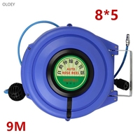 9M Automatic Retractable Reel Telescopic Drum Hose PU8*5 OD 8MM ID 5MM Automotive Air Hose Reel Pneumatic Hose PU Tube