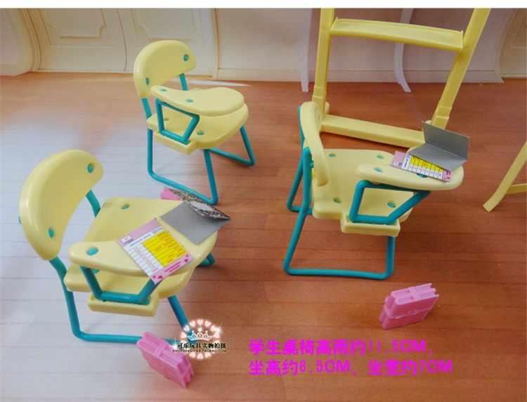 Новые модные стулья для класса + доска подарочный набор кукольные аксессуары Кукольный дом мебель набор для куклы Барби Детские Девочки DIY игрушки