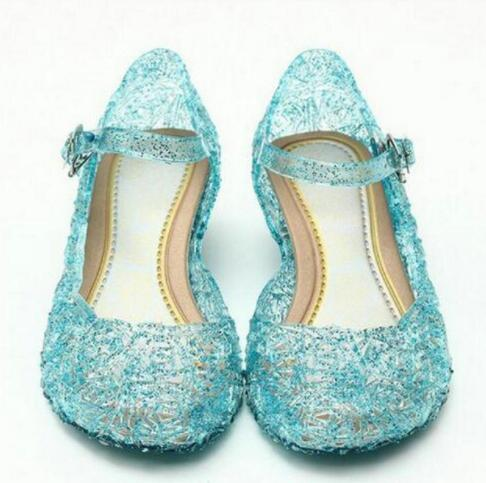 2018 Hot Baby Shoes Girls Sandals Anna Elsa Kids Baby Shoes Elsa Princess and Cosplay Shoes Party and Comfortable