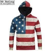 2016 Hoodies Men Sudaderas Hombre Sport Mens Brand Hoodie Sweatshirt American Flag Digital Printing Suit Men