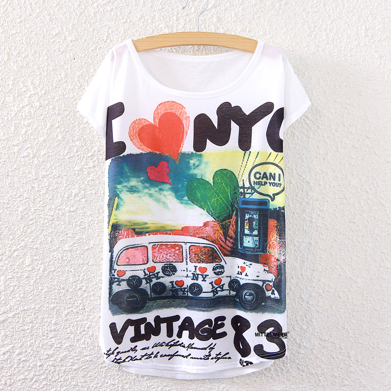 Mode I LOVE NY T-shirt mignon impression 3d femmes t - shirt casual je aime NEW YORK tops d'occasion  Livré partout en France
